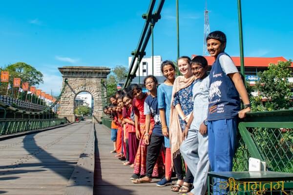 Punaloor suspension bridge